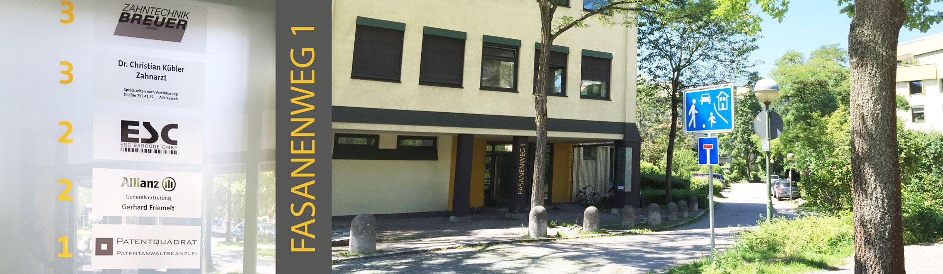 Hier ist das Gebäude der Praxis abgebildet.